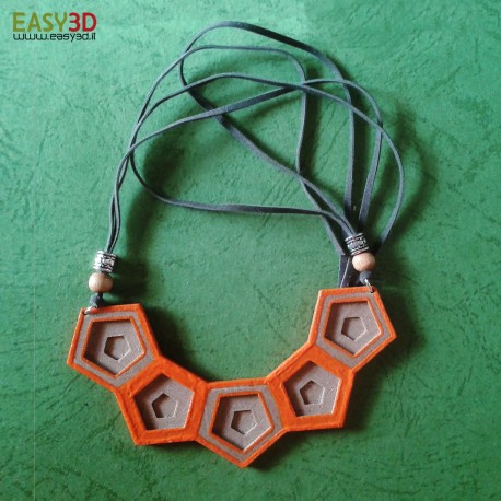 Collana 3d Wood-Honey