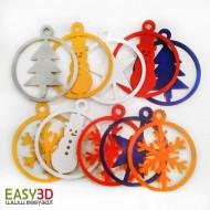 Ornamenti addobbi Giroscopici 3D natalizi