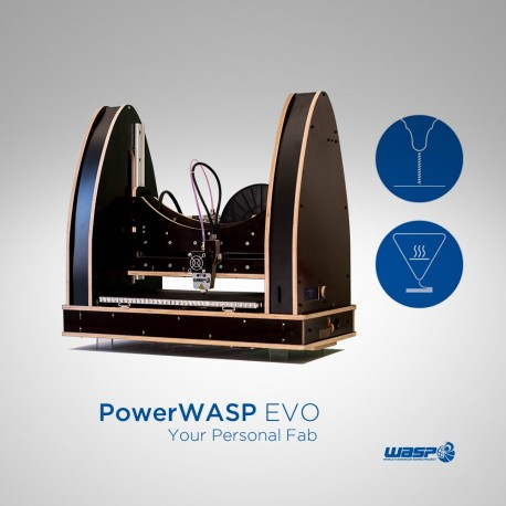 POWERWASP EVOLUTION - Stampante 3d FDM - WASPproject