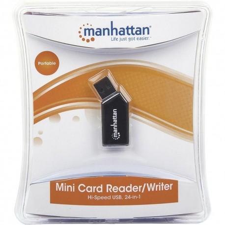 mini card reader writer lettore multicard USB 2.0 24 in 1 manhattan