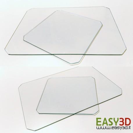 VETRO 210x210 x 3mm per piatto stampante 3d