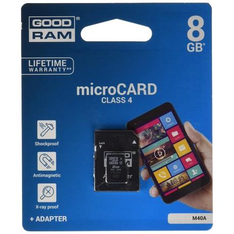 MICROCARD 8GB SDHC classe 4 - GoodRam