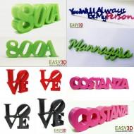PAROLA NOME SCRITTA personalizzata - font dimensione colore