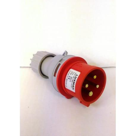 SPINA industriale IP44 16A - 4 POLI 3p+e / 5 POLI 3p+n+e