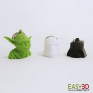 PORTACHIAVI STAR WARS * Darth, Yoda, Stoormtrooper