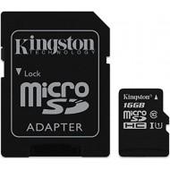MICRO SD 16GB CON ADATTATORE A SD Kingston