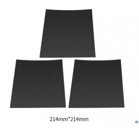 Adesivo tipo Buildtak 214x214 nero - rivestimento piatto 3d