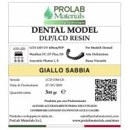 DENTAL MODEL 500g ocra giallo sabbia Resina 3d LCD Prolab Materials