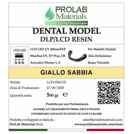 DENTAL MODEL giallo sabbia Resina 3d LCD Prolab Materials