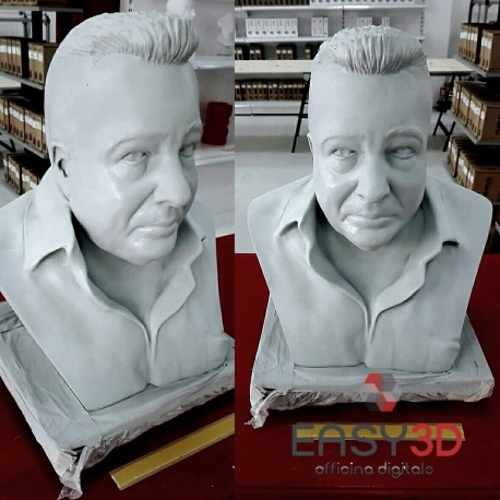 BUSTO 3D PERSONALIZZATO MEZZOBUSTO SIMIL BRONZO MARMO GESSO EASY 3D
