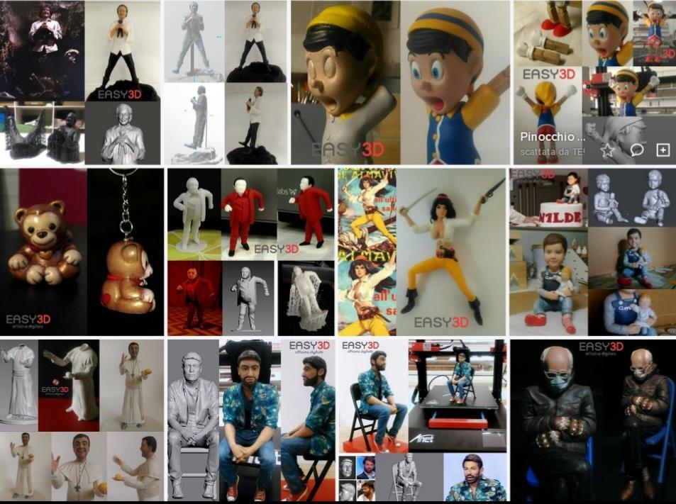 Statuina 3d personalizzata action figure statuetta minime stampa 3d